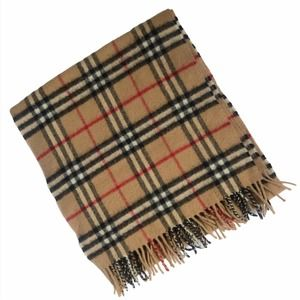 Burberrys Vintage Wool Haymarket Plaid Check Scarf